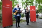 Slow Club live in Soho Square